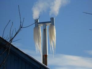 Это у соседей, хоть и лёд, но котёл горит